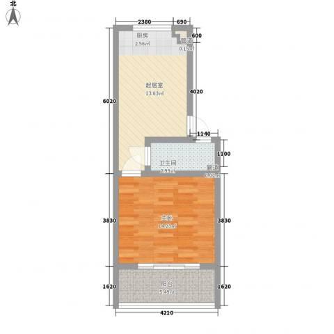 天建南苑旅游度假村1室0厅1卫0厨55.00㎡户型图