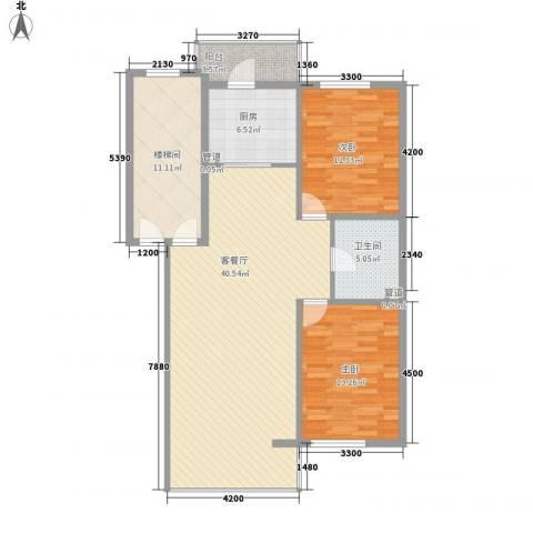 阳光A版2室1厅1卫1厨102.00㎡户型图