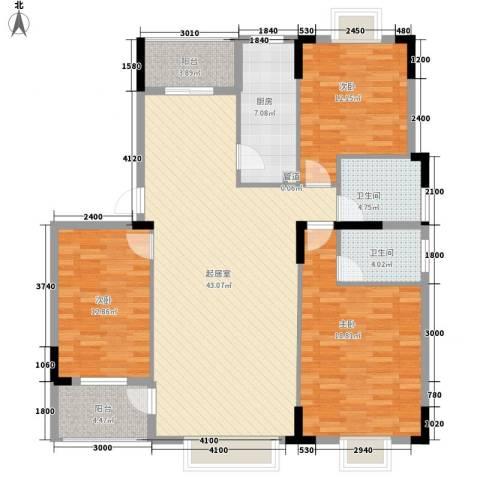 康源绿洲康城3室0厅2卫1厨137.00㎡户型图