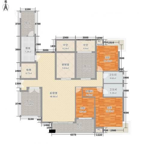 金域中央天越3室0厅2卫1厨243.00㎡户型图
