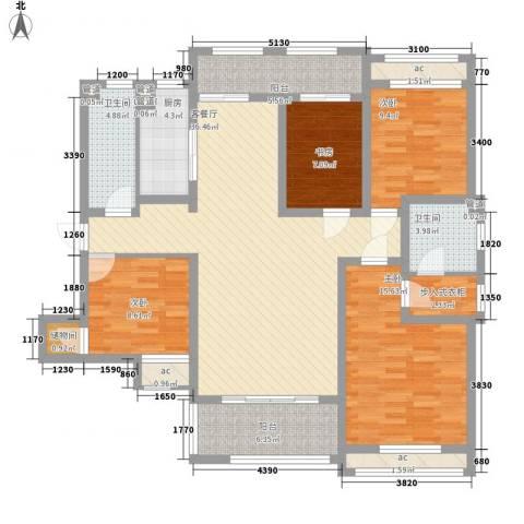 龙湖滟澜山4室1厅2卫1厨163.00㎡户型图