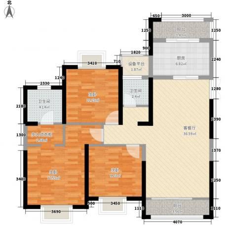 南通中央商务区3室1厅2卫1厨130.00㎡户型图