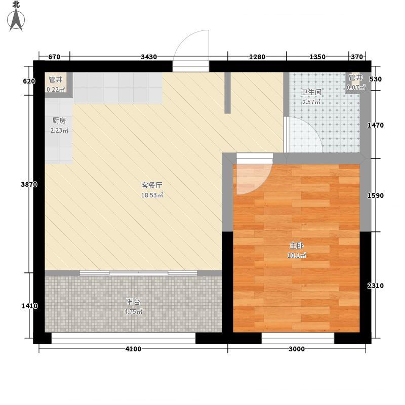 桐楠格翡翠城32.30㎡7#一室户型1室1厅1卫1厨