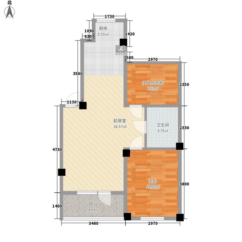 澳海澜庭71.00㎡澳海澜庭户型图71平米带阁楼户型图1室2厅1卫户型1室2厅1卫