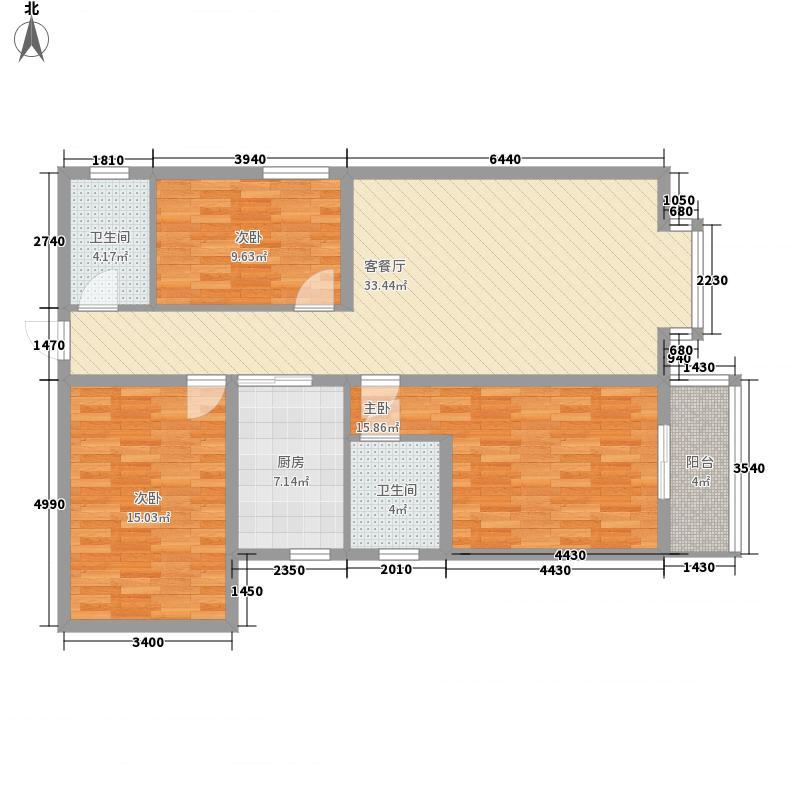 龙泉凯旋133.63㎡龙泉凯旋户型图28号楼1-04户型3室2厅2卫1厨户型3室2厅2卫1厨