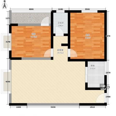 东升旭日华庭2室0厅1卫1厨92.00㎡户型图