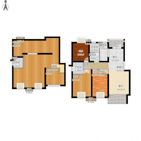 泰宸舒庭3室1厅3卫1厨225.00㎡户型图