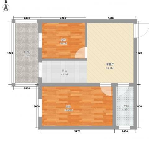 富江家园2室1厅1卫0厨49.62㎡户型图