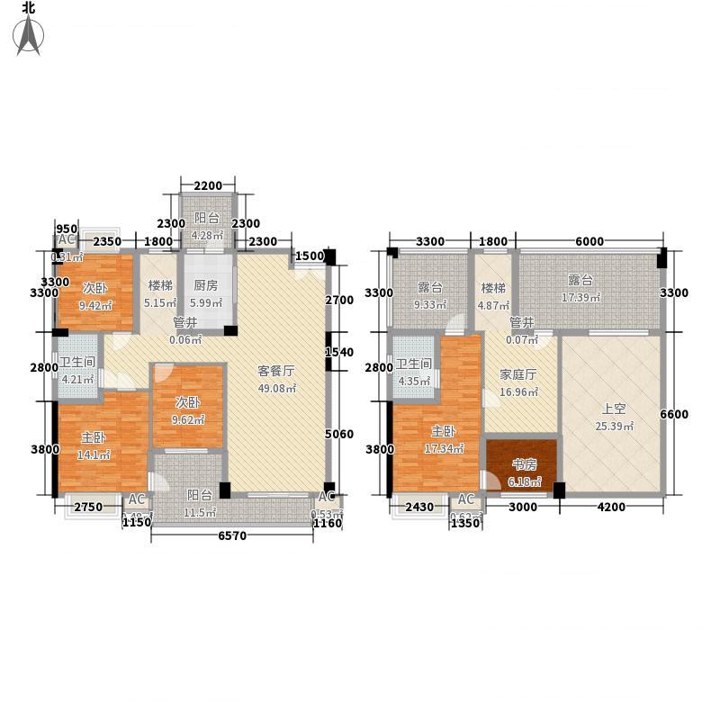 红馆187.00㎡T2跃户型5室3厅2卫1厨