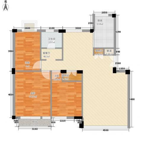幸福E家二期3室1厅1卫1厨108.00㎡户型图