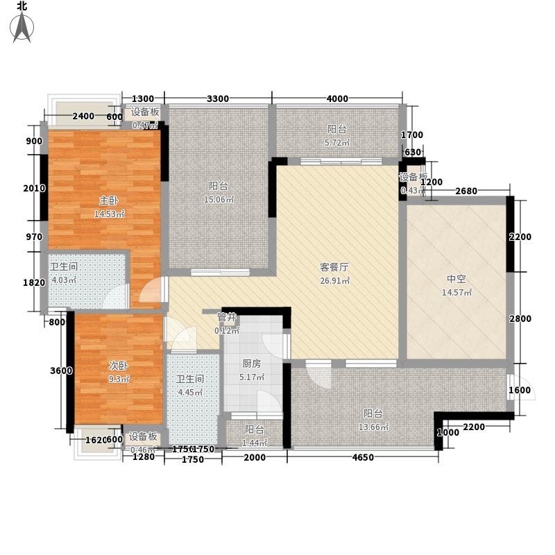 万科金域蓝湾112.00㎡万科金域蓝湾户型图名士馆奇数层2室2厅2卫户型2室2厅2卫