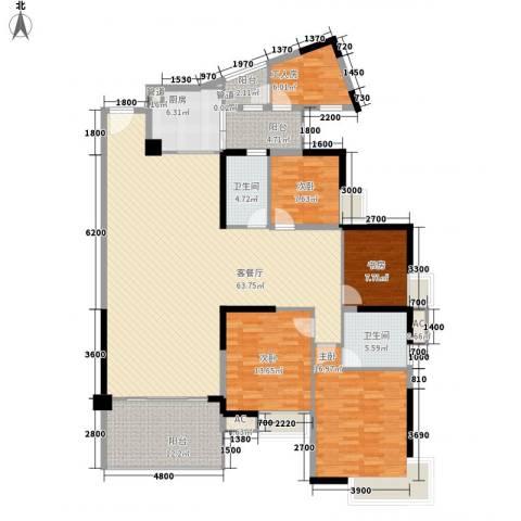 时富花园4室1厅2卫1厨152.82㎡户型图