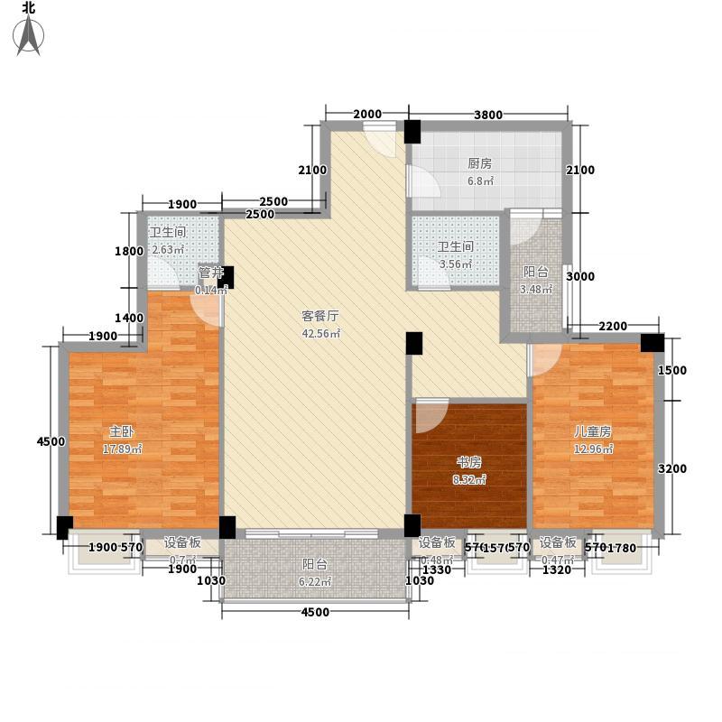 丰业橄榄宿122.00㎡丰业橄榄宿户型图A天秤座3室2厅2卫1厨户型3室2厅2卫1厨