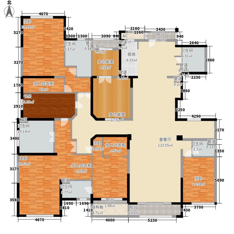 壹号公馆490.00㎡壹号公馆户型图G7号楼N户型5室3厅4卫1厨户型5室3厅4卫1厨