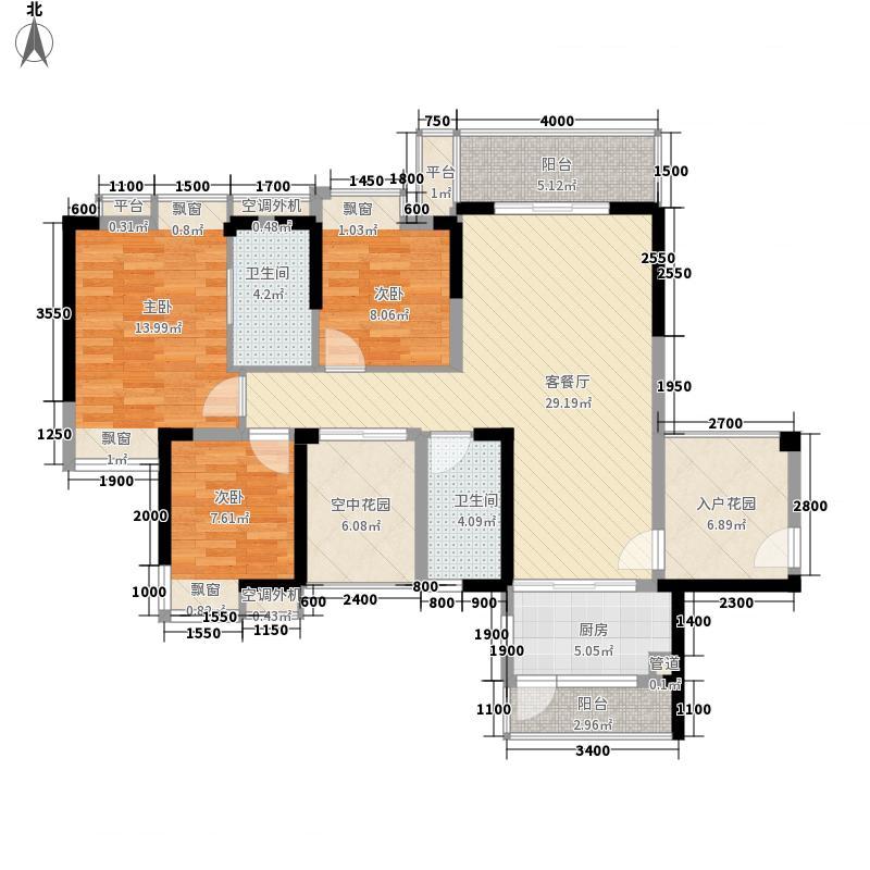 鹿港小镇鹿港小镇3室户型3室