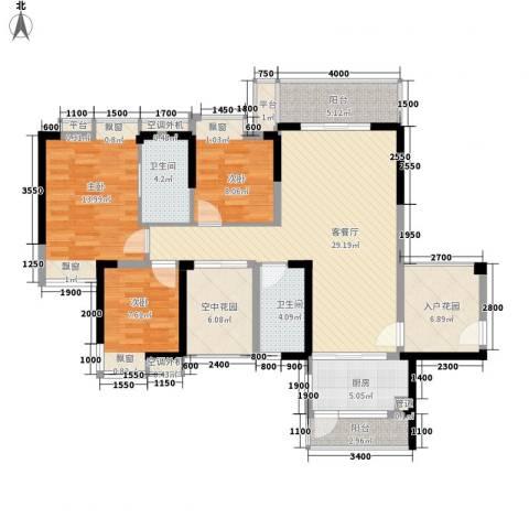 鹿港小镇3室1厅2卫1厨139.00㎡户型图