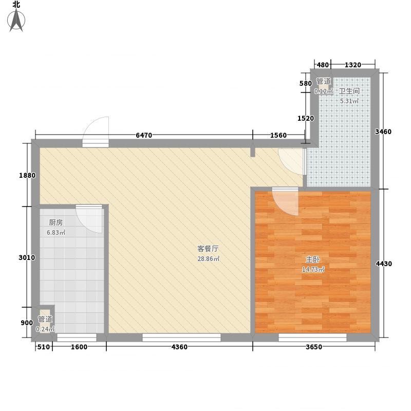 顺德园62.40㎡顺德园户型图1室2厅1卫户型10室