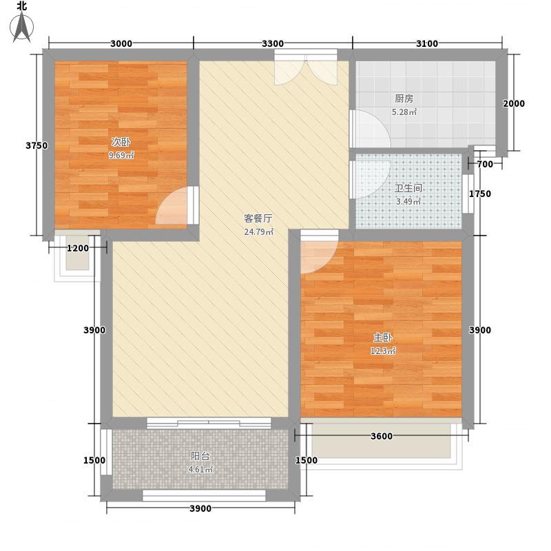 圳秀国际金湖湾85.00㎡一期11#楼C户型