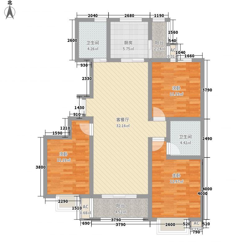 中国铁建逸园122.52㎡D(修改面积12252m户型