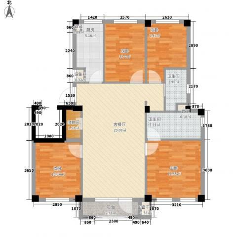 国民院子4室1厅2卫1厨120.00㎡户型图