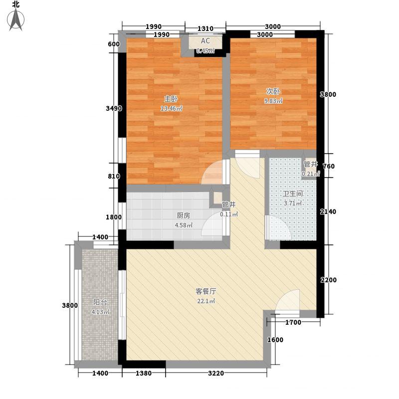 璟和嘉园87.18㎡�和嘉园1#高层A面积8718m户型