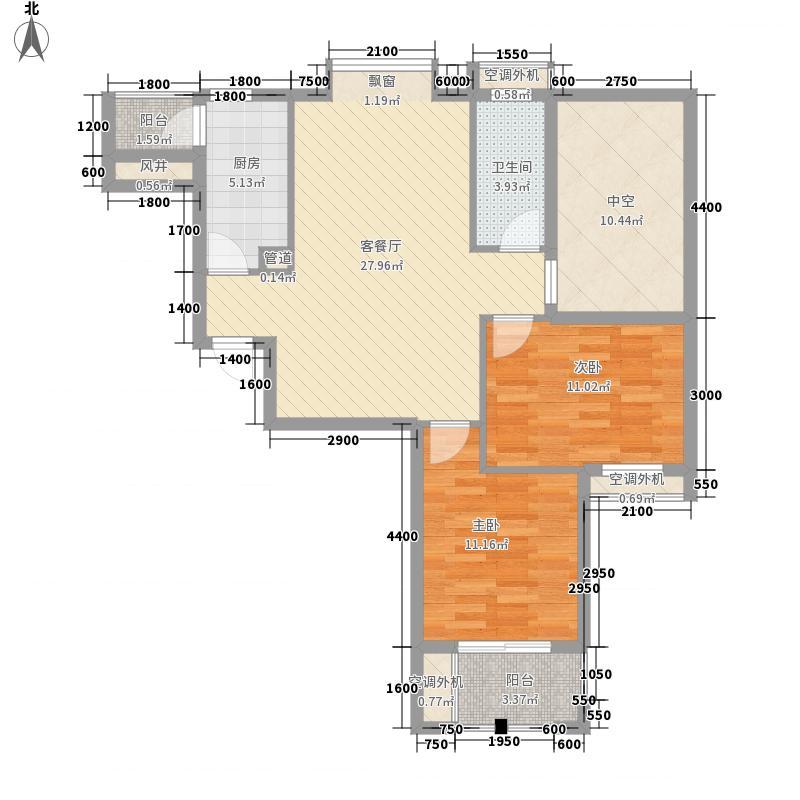 福晟滨江国际92.22㎡12号楼B3户型