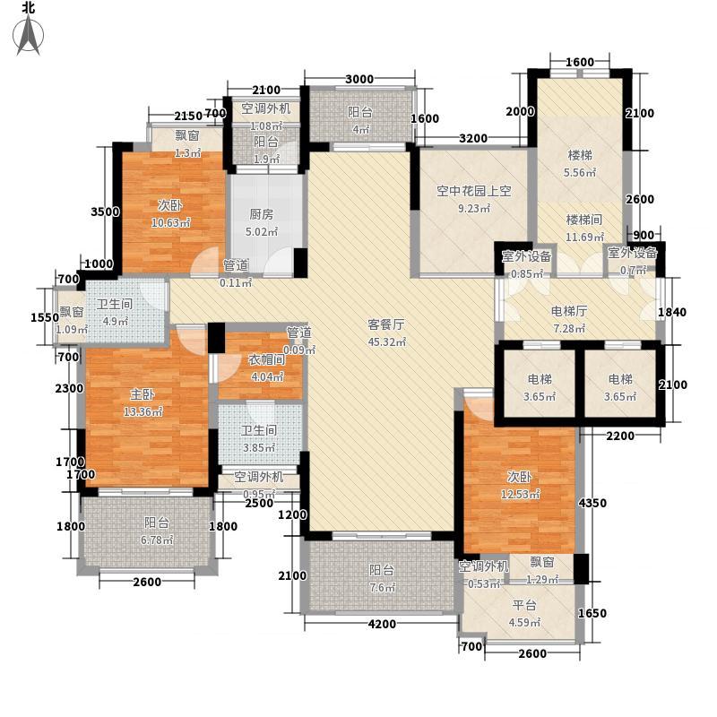 十二橡树庄园140.00㎡十二橡树庄园户型图1期K户型3室2厅2卫1厨户型3室2厅2卫1厨