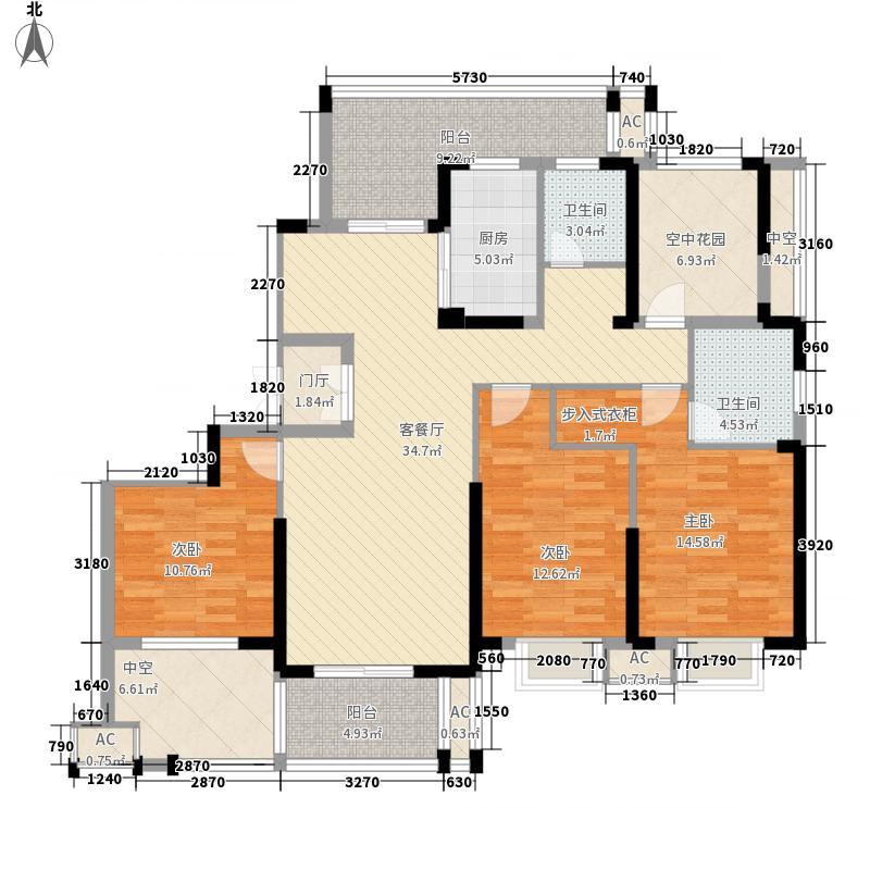 凯旋华府162.86㎡凯旋华府户型图户型图3室2厅1卫1厨户型3室2厅1卫1厨