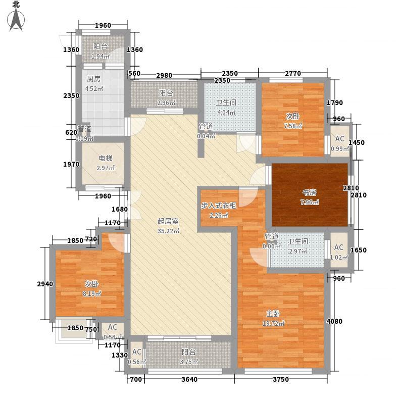 观澜盛世155.00㎡天景户型4室2厅2卫1厨