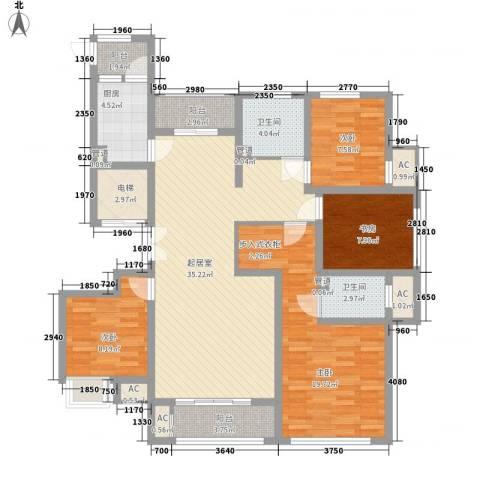 观澜盛世4室0厅2卫1厨155.00㎡户型图