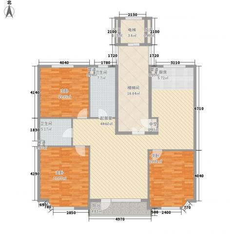 世嘉星海3室0厅2卫0厨153.00㎡户型图
