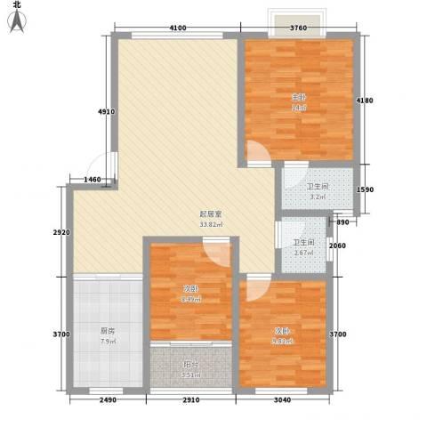 东升旭日华庭3室0厅2卫1厨111.00㎡户型图
