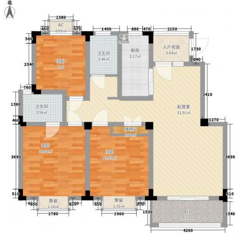 尚泽时代广场3室0厅2卫1厨112.00㎡户型图