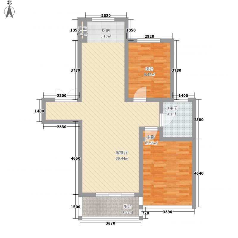 枫合万嘉103.60㎡枫合万嘉户型图小高层B2-1户型2室2厅1卫1厨户型2室2厅1卫1厨
