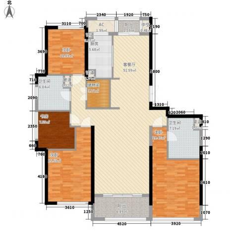 绿城锦绣兰庭4室1厅2卫1厨195.00㎡户型图