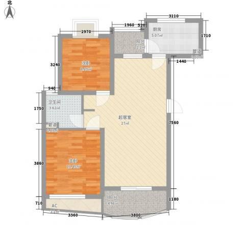 金桥一方2室0厅1卫1厨94.00㎡户型图