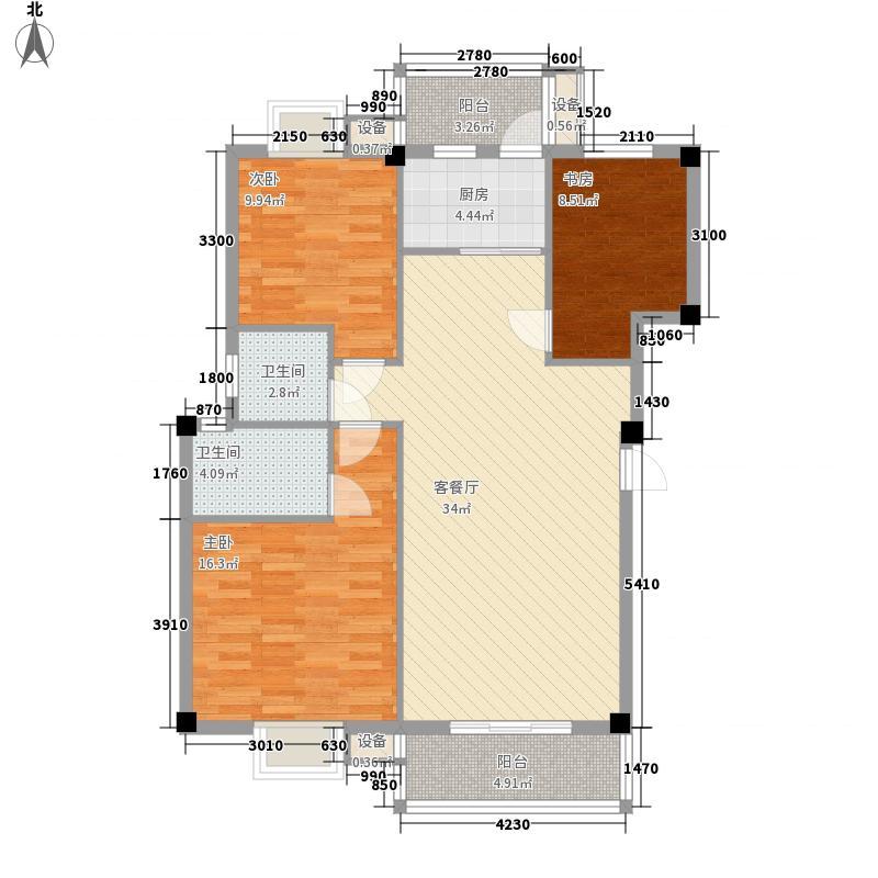 中民阳光城115.68㎡二期6#A2户型3室2厅2卫1厨