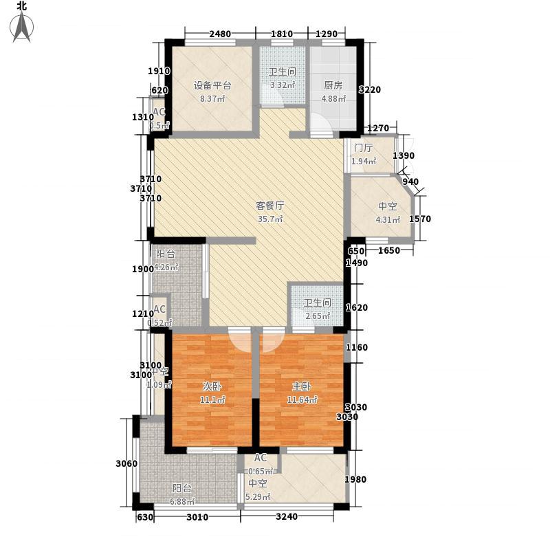 凯旋华府133.99㎡凯旋华府户型图户型图2室1厅2卫1厨户型2室1厅2卫1厨