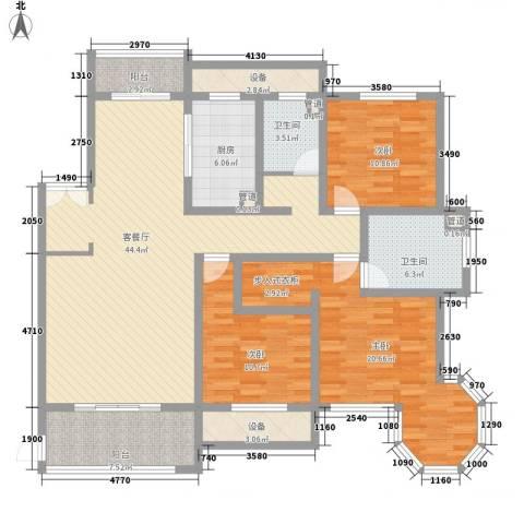 新公馆3室1厅2卫1厨175.00㎡户型图