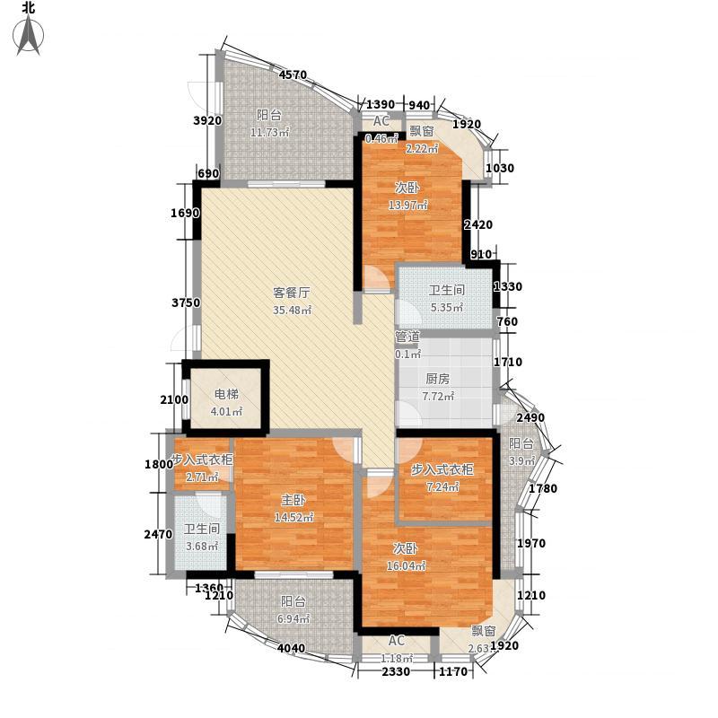 锦江国际城156.81㎡锦江国际城户型图5A3室2厅2卫户型3室2厅2卫
