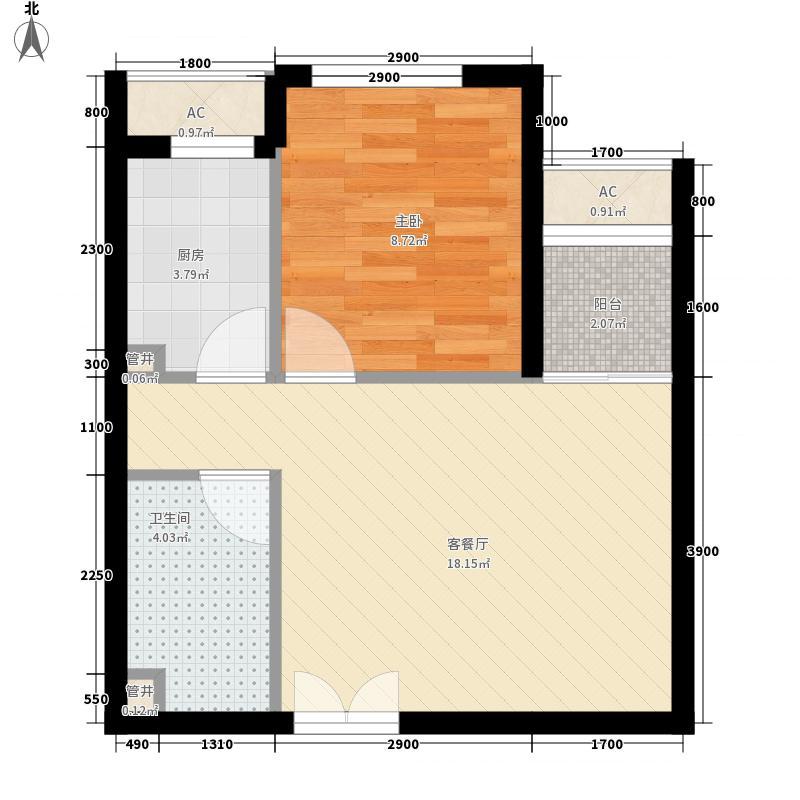 东亚望京中心户型1室1厅1卫1厨