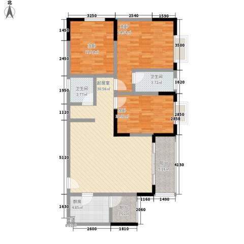东升旭日华庭3室0厅2卫1厨119.00㎡户型图