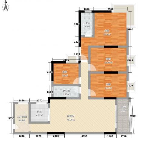 佳磊华丽大厦4室1厅2卫1厨154.00㎡户型图