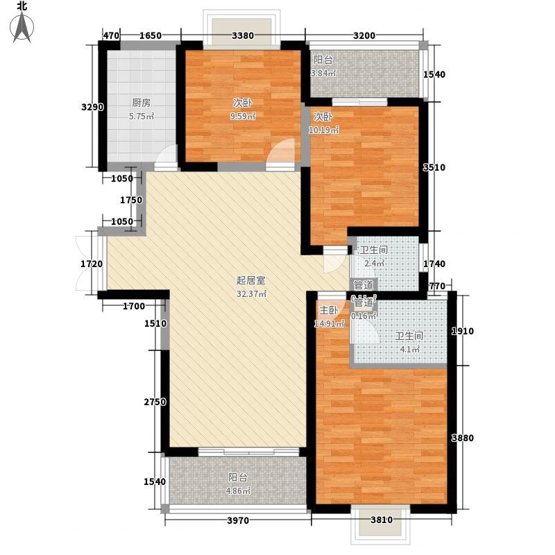天赐颐府户型图F3户型 3室2厅2卫1厨