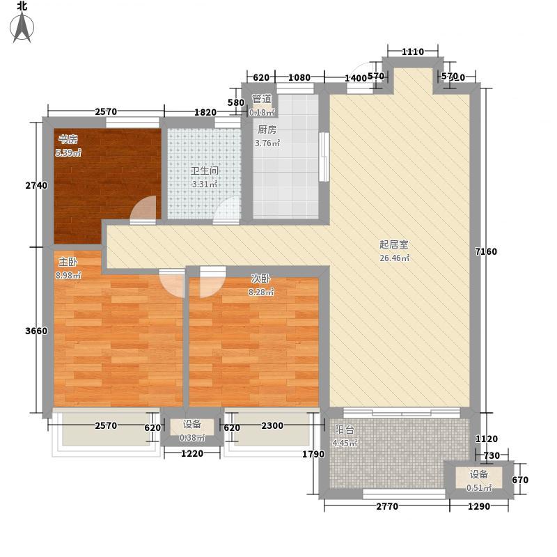 文一云河湾86.00㎡文一云河湾户型图G1-B户型图3室2厅1卫1厨户型3室2厅1卫1厨