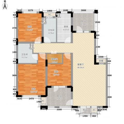 富奥新东区3室1厅2卫1厨141.00㎡户型图