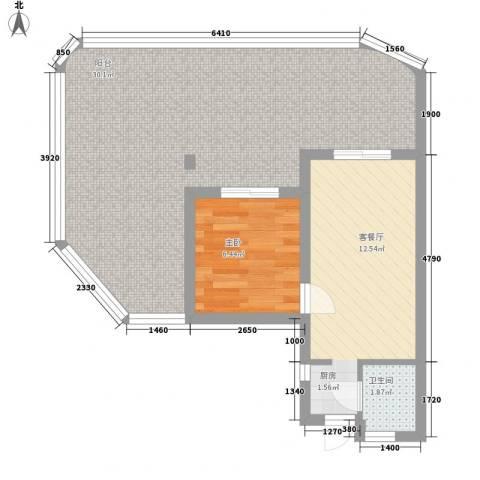 平海逸龙湾1室1厅1卫0厨73.00㎡户型图