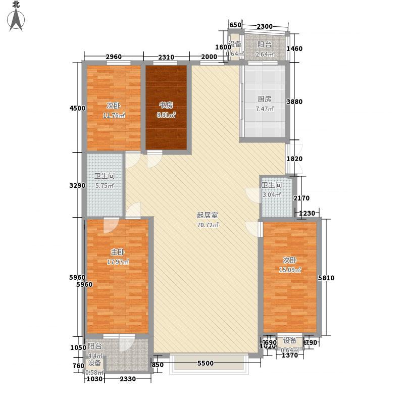 五彩园户型图4室2厅2卫
