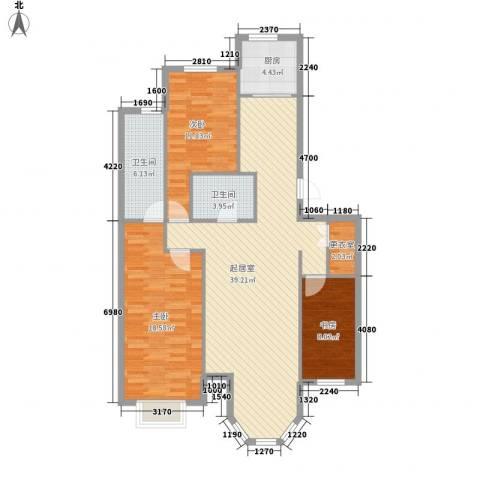 新星壹品御园3室0厅2卫1厨131.00㎡户型图