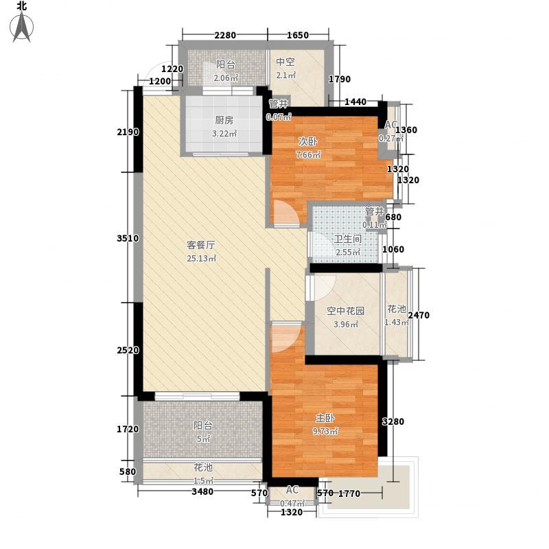 保利星座93.00㎡保利星座户型图6号楼1梯奇数层03单元户型10室